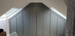 Angled ceiling fitted wardrobes