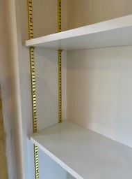 Brass bookcase strips