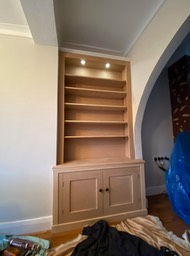 Classic alcove unit ready to paint with lighting