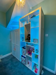 Modern wardrobe and display shelving for kids